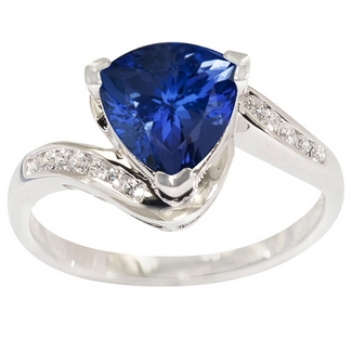 1.5ct Trillion Tanzanite Ring